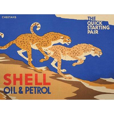 Art Group Shell Cheetahs, 1928 Vintage Advertisement Canvas Wall Art