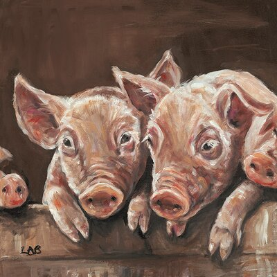 Art Group Oink! by Louise Brown Canvas Wall Art