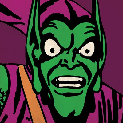 Art Group Marvel Comics Green Goblin Close-Up Canvas Wall Art