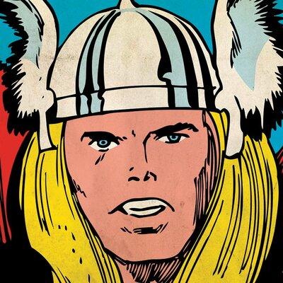 Art Group Marvel Comics Thor Close-Up Canvas Wall Art