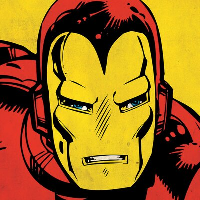 Art Group Marvel Comics Iron Man Close-Up Canvas Wall Art