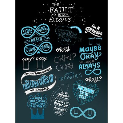 Art Group The Fault in Our Stars Typography Canvas Wall Art