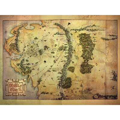 Art Group The Hobbit Middle Earth Map Canvas Wall Art