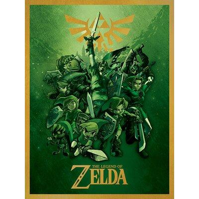 Art Group The Legend of Zelda Link Vintage Advertisement Canvas Wall Art