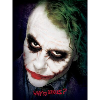 Art Group The Dark Knight Joker Face Vintage Advertisement Canvas Wall Art