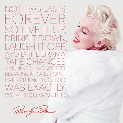 Art Group Marilyn Monroe Nothing Lasts Forever Canvas Wall Art