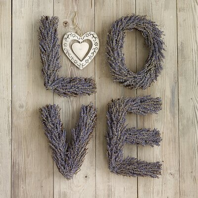 Art Group Lavender Love by Howard Shooter Typography Canvas Wall Art