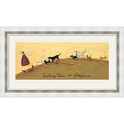 Art Group Walking Down To Happiness by Sam Toft Framed Art Print