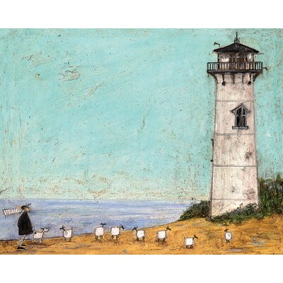 Art Group Seven Sisters And A Lighthouse by Sam Toft Canvas Wall Art