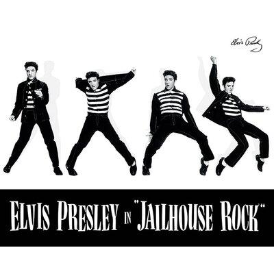 Art Group Elvis Jailhouse Rock Vintage Advertisement Canvas Wall Art