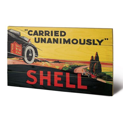 Art Group Shell Carried Unanimously, 1923 Vintage Advertisement Plaque