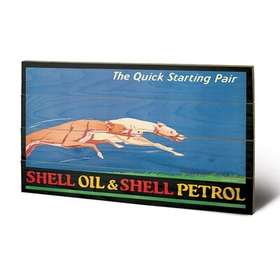 Art Group Shell Greyhounds, 1926 Vintage Advertisement Plaque