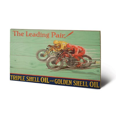 Art Group Shell Leading Pair, 1928 Vintage Advertisement Plaque