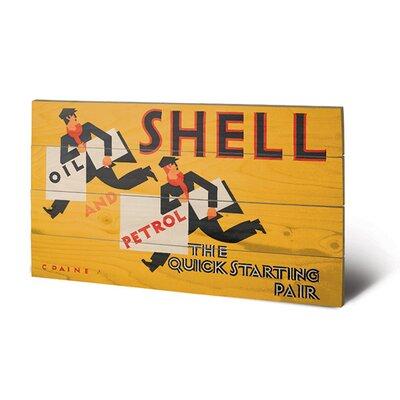 Art Group Shell Newsboys, 1928 Vintage Advertisement Plaque