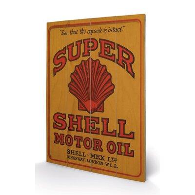 Art Group Shell Adopt The Golden Standard 1925 Vintage Advertisement Plaque