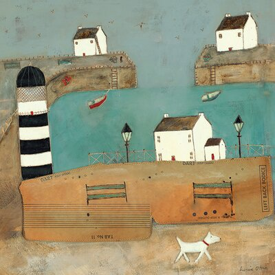 Art Group A Trot Along The Harbour by Louise O'Hara Canvas Wall Art