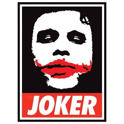 Art Group The Dark Knight Obey The Joker Vintage Advertisement Canvas Wall Art