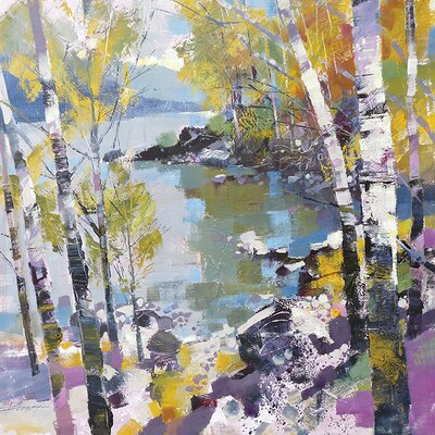 Art Group Birch In Spring by Chris Forsey Canvas Wall Art