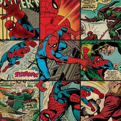 Art Group Marvel Comics Spider-Man Squares Canvas Wall Art