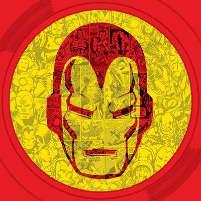 Art Group Marvel Comics Iron Man Helmet Collage Canvas Wall Art