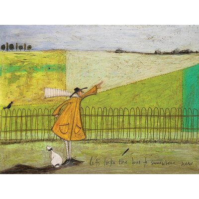 Art Group Let'S Take The Bus To Somewhere New by Sam Toft Canvas Wall Art