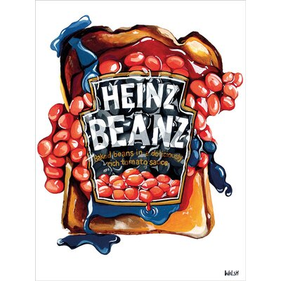 Art Group Heinz Orla Walsh - Beans On Toast Vintage Advertisement Canvas Wall Art