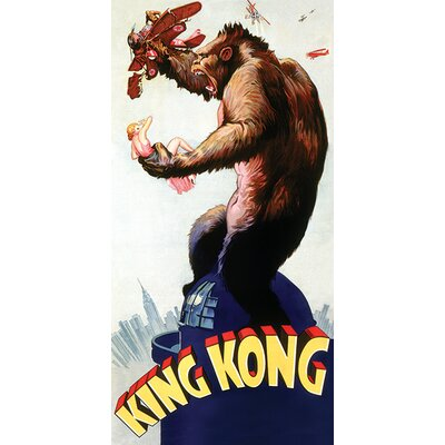 Art Group King Kong Building Top Vintage Advertisement Canvas Wall Art