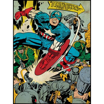 Art Group Captain America Soldiers Canvas Wall Art