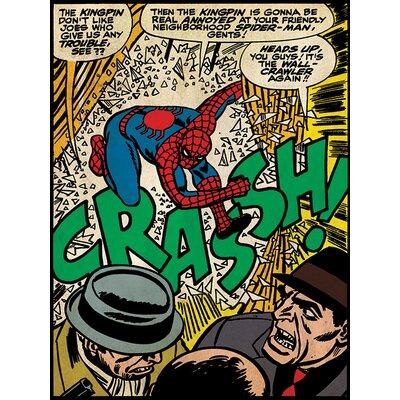 Art Group Spider-Man Crash Canvas Wall Art