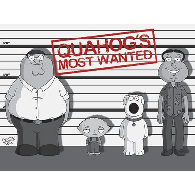 Art Group Family Guy Quahog'S Most Wanted Vintage Advertisement Canvas Wall Art