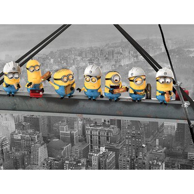 Art Group Despicable Me Minions Lunch On A Skyscraper Canvas Wall Art
