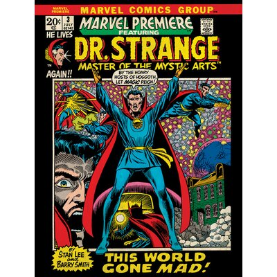 Art Group Marvel Comics Dr. Strange - World Gone Mad Vintage Advertisement Canvas Wall Art