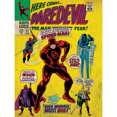 Art Group Marvel Comics Here Comes Daredevil Vintage Advertisement Canvas Wall Art