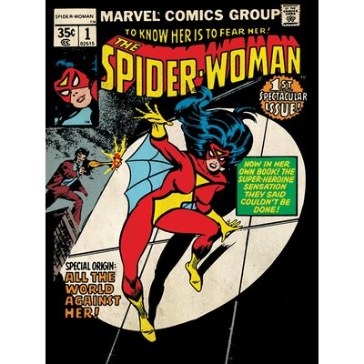 Art Group Marvel Comics Spider-Woman First Issue Vintage Advertisement Canvas Wall Art