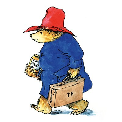 Art Group Paddington Bear Walking Art Printon Canvas