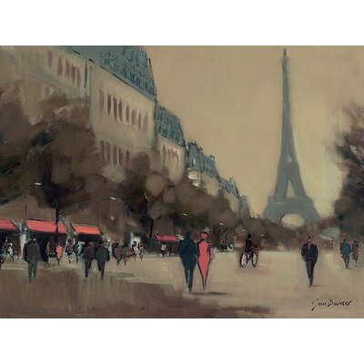 Art Group Time Out In Paris by Jon Barker Canvas Wall Art