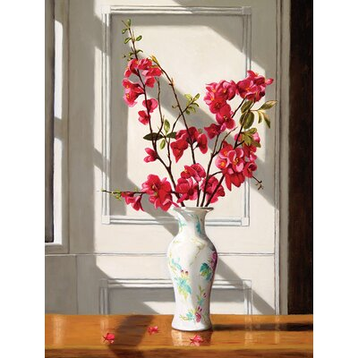 Art Group Japanese Blossom, Chinese Vase by Andrew Mcneile Jones Canvas Wall Art
