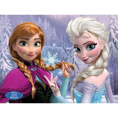 Art Group Frozen Anna & Elsa Woods French Canvas Wall Art