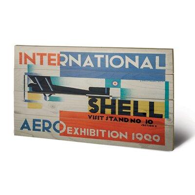Art Group Shell International Aero Exhibition, 1929 Vintage Advertisement Plaque