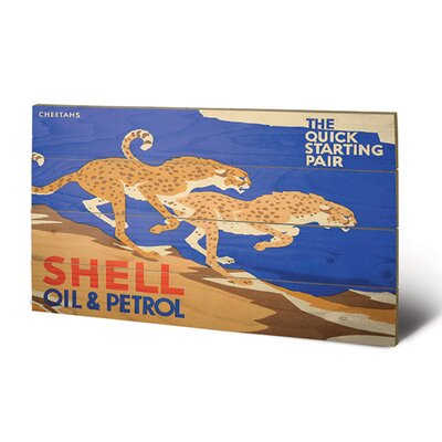 Art Group Shell Cheetahs, 1928 Vintage Advertisement Plaque