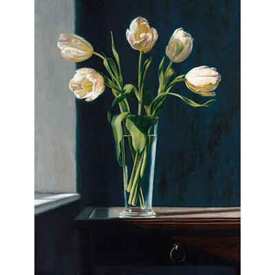 Art Group White Tulips by Andrew Mcneile Jones Canvas Wall Art