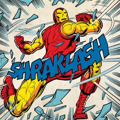 Art Group Marvel Comics Iron Man Shraklash! Vintage Advertisement Canvas Wall Art