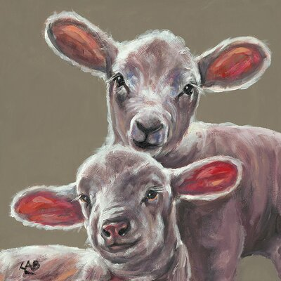 Art Group Spring Lambs by Louise Brown Canvas Wall Art