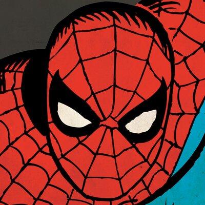 Art Group Marvel Comics Spider-Man Close-Up Canvas Wall Art