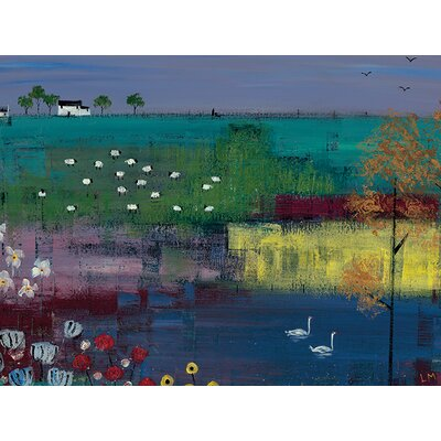 Art Group Swan Lake by Lee Mccarthy Canvas Wall Art