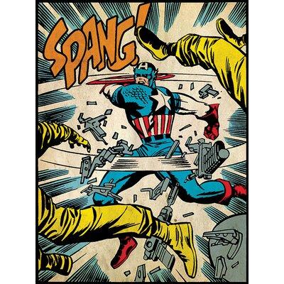 Art Group Captain America Spang Canvas Wall Art