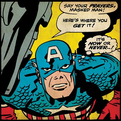 Art Group Captain America Now Or Never Canvas Wall Art