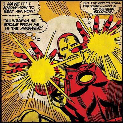 Art Group Iron Man Precious Seconds Canvas Wall Art