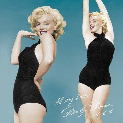 Art Group Marilyn Monroe All My Love Canvas Wall Art