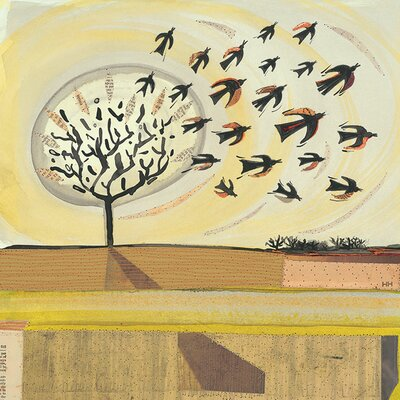 Art Group The Rooks Flew Away by Helen Hallows Canvas Wall Art